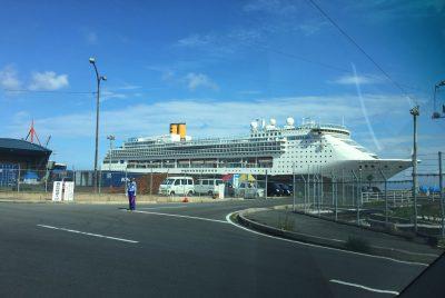 境港にクルーズ客船コスタ・ビクトリア号がやってきた!