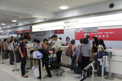 本日9月14日より米子−香港の定期便が就航!米子鬼太郎空港に行ってみた。