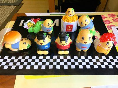 マクドナルドのハッピーセットを沢山食べてふなっしーのおもちゃを全部揃えてみた!