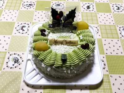 大山乳業のクリスマスケーキ「抹茶リース」を食べてみた!
