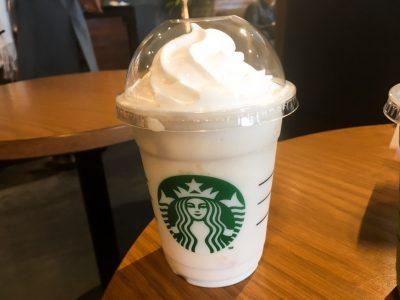 スタバの新作「ホワイトチョコレート&ピーチクリームフラペチーノ」を飲んでみた!