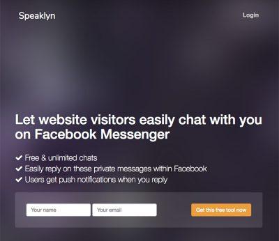Facebookページと連動したチャットサポート「Speaklyn」を導入してみた!しかも無料!