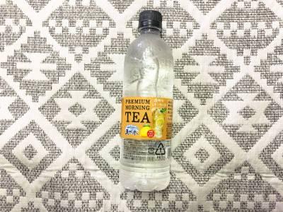 透明なレモンティー!サントリーの「天然水 PREMIUM MORNING TEA レモン」を飲んでみた!