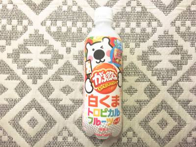 ポッカサッポロの「がぶ飲み 白くまトロピカルフルーツソーダ」を飲んでみた!