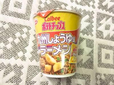エースコックの「カルビーポテトチップス 九州しょうゆ味ラーメン」を食べてみた!