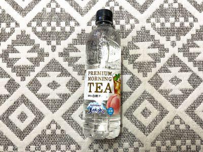 サントリーの「天然水 PREMIUM MORNING TEA 白桃」を飲んでみた!