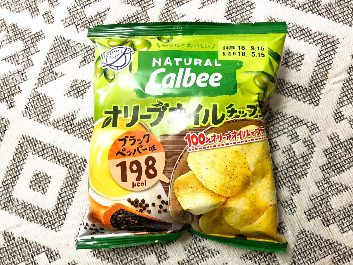 カルビー Natural Calbee オリーブオイルチップス ブラックペッパー味