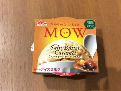 森永乳業の「MOW ソルティーバターキャラメル」を食べてみた!