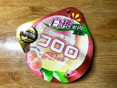 UHA味覚糖の「コロロ 白桃」を食べてみた!