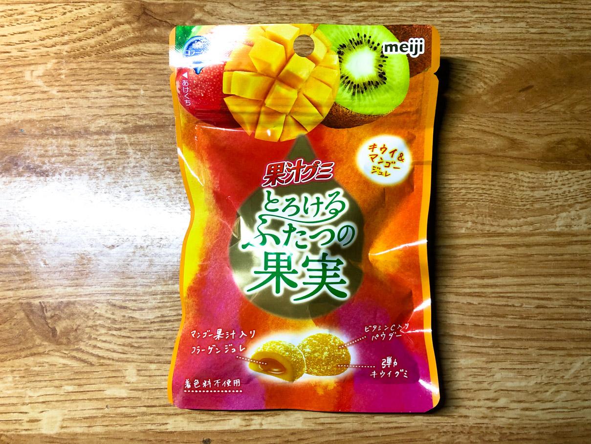 果汁グミ とろけるふたつの果実 キウイ&マンゴージュレ