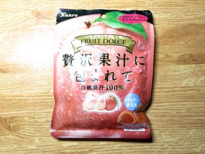 カンロの「フルーツドルチェグミ 白桃 〜贅沢果汁に包まれて〜」を食べてみた!
