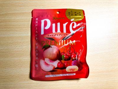 カンロの「ピュレグミプレミアム 白桃&桜桃」を食べてみた!