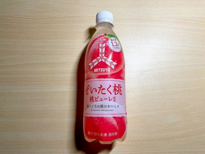 アサヒ飲料の「三ツ矢 ぜいたく桃」を飲んでみた!